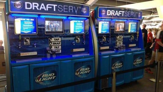 Target Field self-service beer machine.
