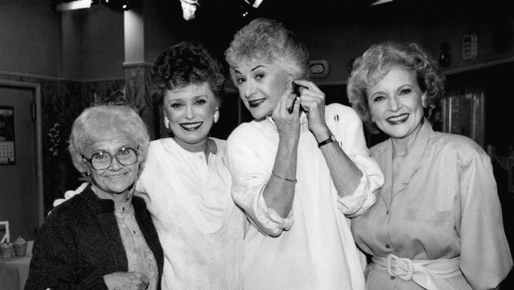 This Dec. 25, 1985 photo shows the stars of 'The Golden Girls.'