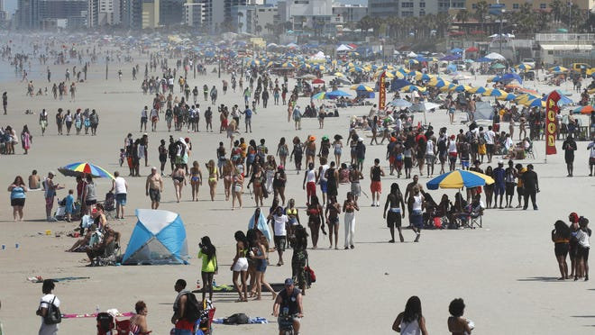 Crowds take to the sand in Daytona Beach on Memorial Day weekend, one of the bright spots in a year of economic downturns tied to the coronavirus. On Wednesday, the board of directors of the Halifax Area Advertising Authority approved a conservative budget proposal for the coming fiscal year.