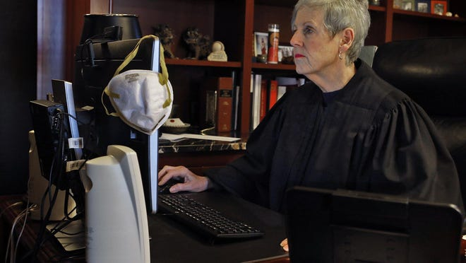 Chief Justice Maureen O'Connor and the associate justices of the Ohio Supreme Court have conducted oral arguments in cases via online video due to the coronavirus pandemic.