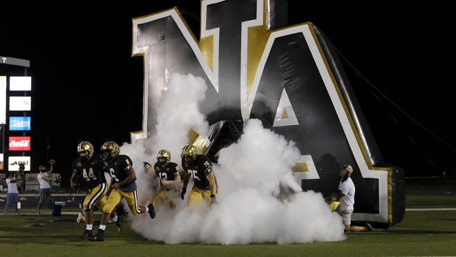 North Augusta scored 20 unanswered points to defeat May River 20-13 in overtime to advance to the second round of the South Carolina High School League 4A playoffs on Friday, Nov. 13 2020.