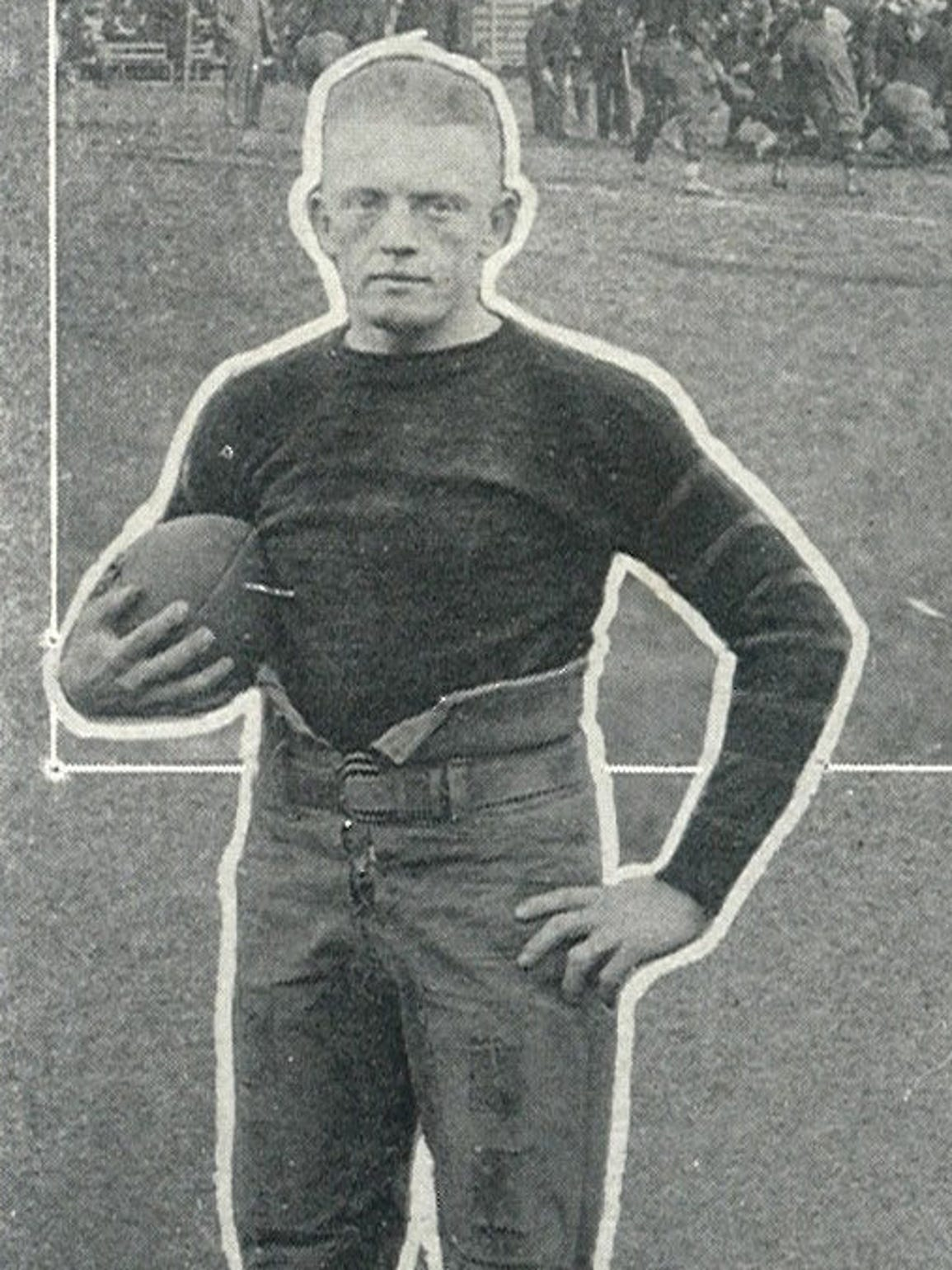 "Johnny ""Red"" Floyd poses for a photo in 1920 Vanderbilt"