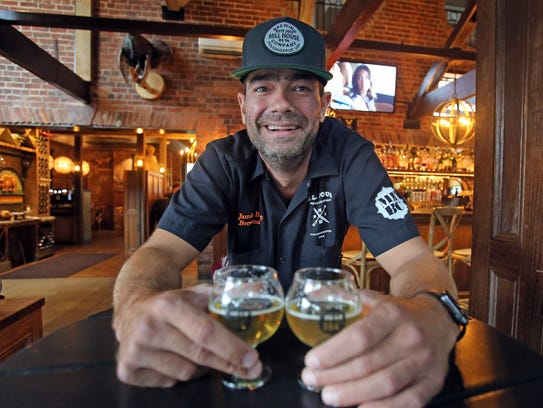 Brewmaster Jamie Bishop is photographed at Mill House