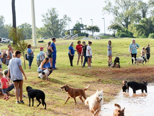 FILE: Dig, a new dating app for dog owners, encourages potential mates to meet up with their matches at a public, dog-friendly area like the Shreveport Dog Park.