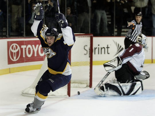 Steve Sullivan tied for the Predators' team lead in 2005-06 with 31 goals.