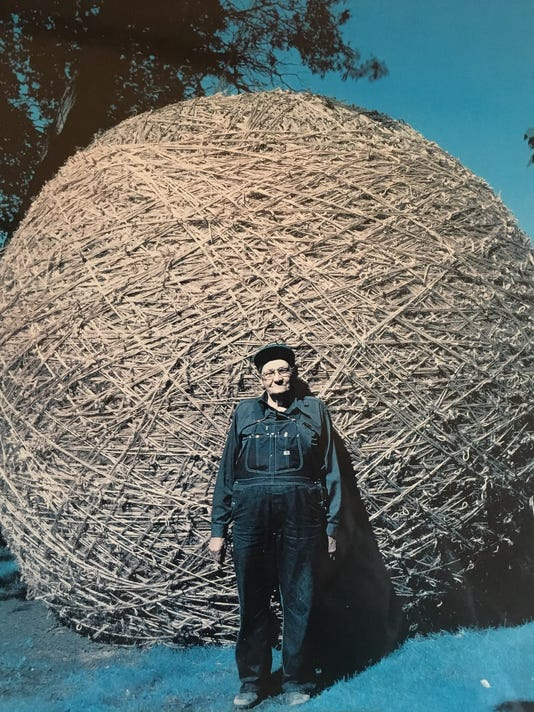 largest ball of twine rolled by one man