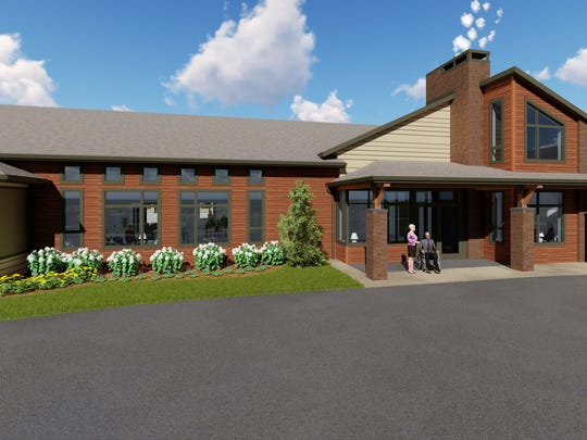 Rendering of Shady Lane's new Laurel Grove Assisted Living building. The facility will be ready for occupancy sometime next summer.