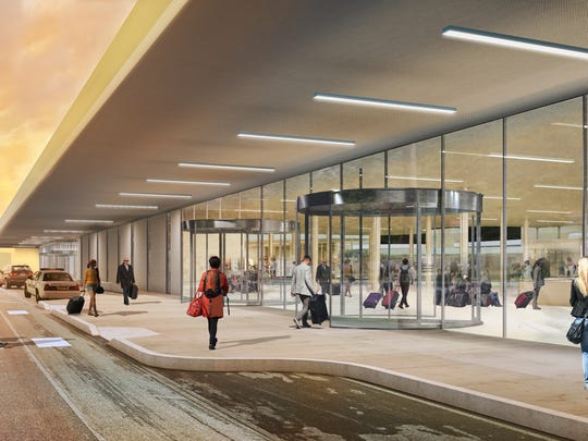 A rendering of the proposed new front entrance to the