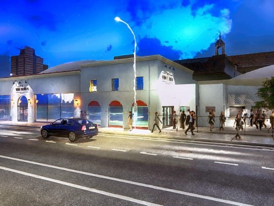 A rendering of how the Van Buren music club in downtown Phoenix will look after it opens later this year.