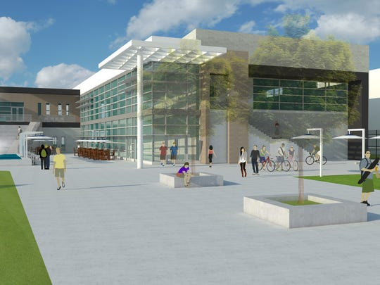 A rendering of the future Student Union.