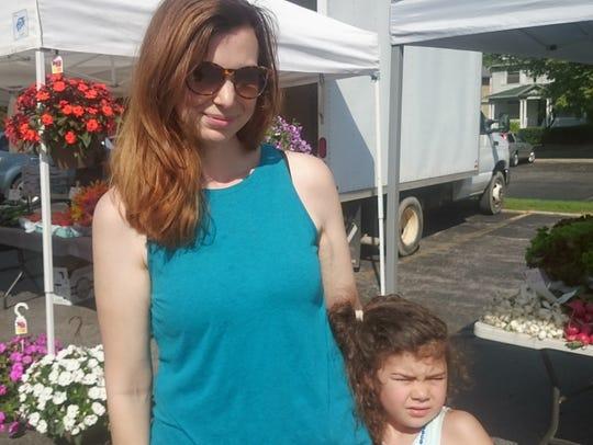 Jeni Simmons and daughter, Gemma.