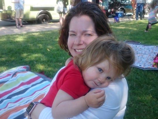 Kate Greenberg and daughter Naomi.