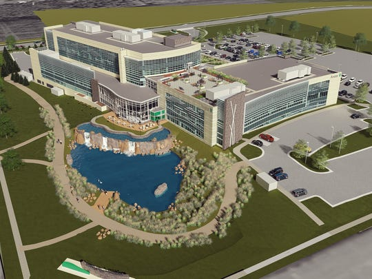 A rendering showing an aerial view of the Avera on Louise Health Campus in Sioux Falls.An architectural rendering showing the Avera on Louise Health Campus in Sioux Falls, which broke ground on Tuesday. The 82-acre campus is slated to open January 2020.