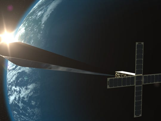 Design concept rendering for Trevor Paglen: Orbital Reflector, co-produced and presented by the Nevada Museum of Art