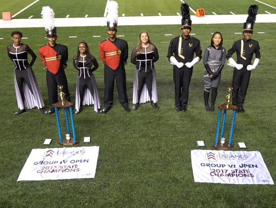 Left: Edison High School obtained 1st place titles