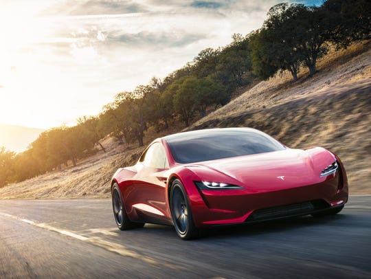 The new Tesla Roadster, slated for a few years down