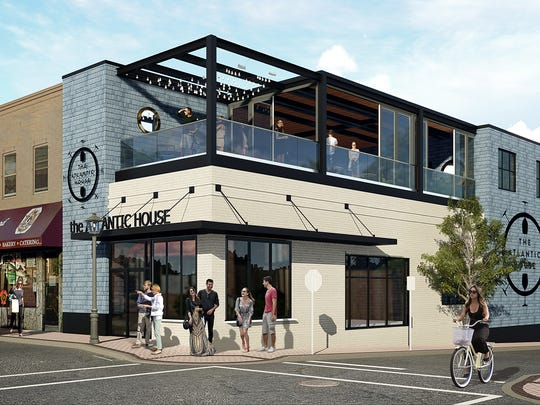 A rendering of The Atlantic House, a restaurant scheduled to open later this year at the former site of Memphis Pig Out in Atlantic Highlands.