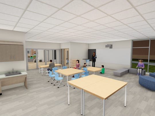 A rendering of Hamilton Southeastern Schools' plans for the inside of Southeastern Elementary. The new school is expected to open on Cyntheanne Road in August 2019.