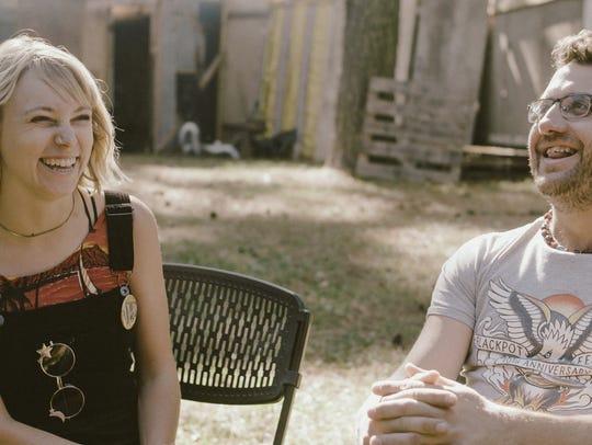Musicians Kelli Jones, left, and Chas Justus share