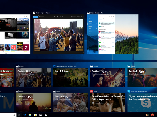 One new Windows 10 feature: Quickly go back in time to access files and media you previously worked on.