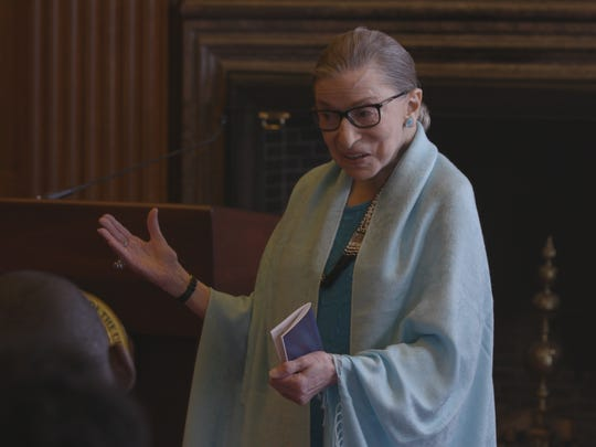 "U.S. Supreme Court Justice Ruth Bader Ginsburg in ""RBG."""
