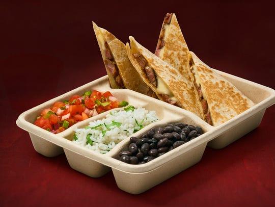 Quesadillas, an experimental menu item at Chipotle.
