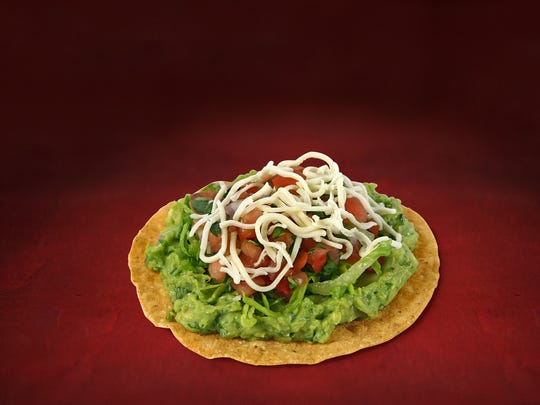 Avocado tostada, an experimental menu item at Chipotle.