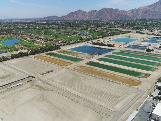 Percolation ponds under construction at Coachella Valley