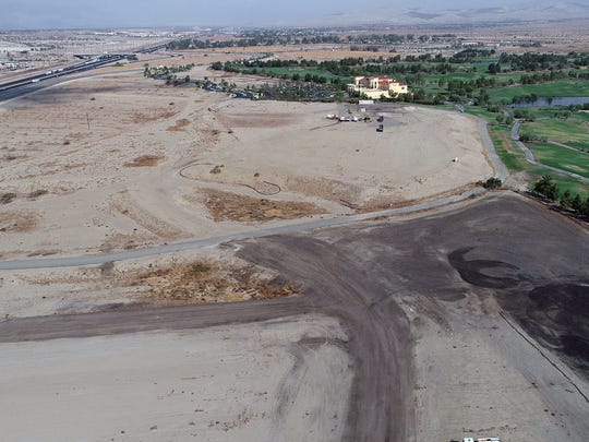 View of the proposed site for a large sports complex on Wednesday, July 18, 2018 in Palm Desert. The land is located between the Classic Club and the I-10.