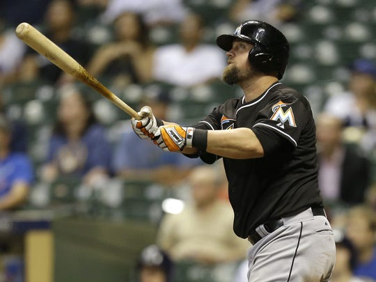 Casey McGehee played for the Miami Marlins before being traded to San Francisco and winning the World Series with the Giants.