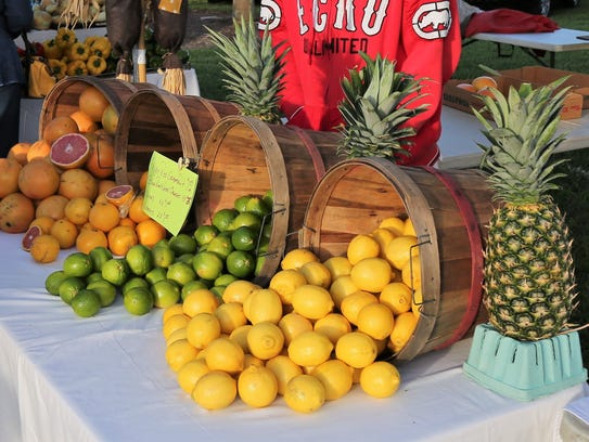 You can always find fresh cut fruit at the Marco Island Farmers Market