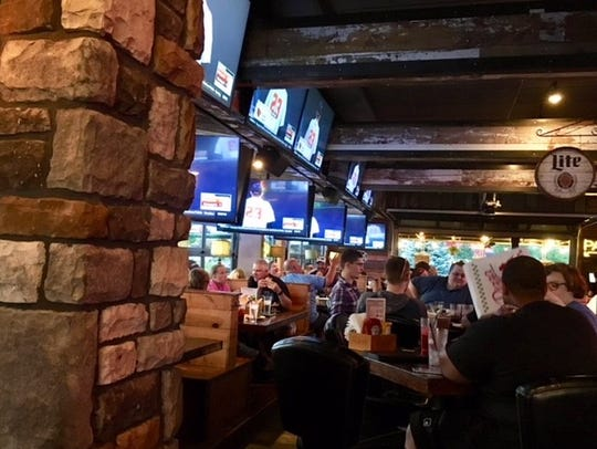 Inside the Grumpy Goat Tavern on Mills Civic Parkway in Wes Des Moines.