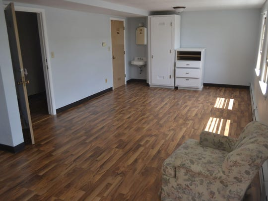 This remodeled living space will accommodate up to