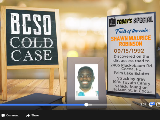 The cold case of Shawn Maurice Robinson was presented