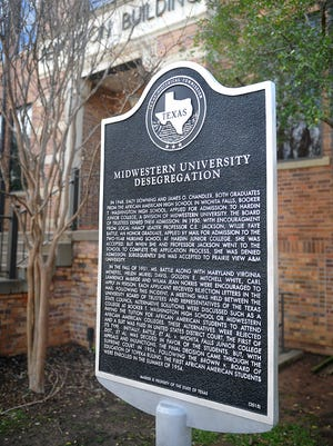 An official Texas Historical Marker will be dedicated Saturday, Feb. 25 at the Ferguson Building on the Midwestern State University campus. The marker recognizes the end of segregation at the school in 1954.