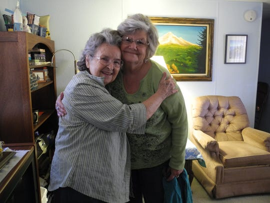 Diane Koble (right), a volunteer for Benevilla's Home