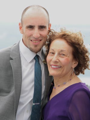 Nathan Adamus with his mother, Mary Adamus.