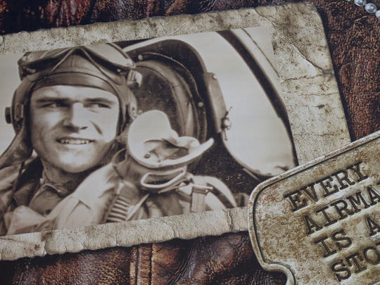 A billboard sponsored by the Wisconsin Veterans Museum in Madison features a photograph of World War II pilot James A. Des Jardins, who was killed in action over Germany. He is the uncle of Outagamie County Judge John Des Jardins. The billboard is located about a mile south of County BB on the east side of U.S. 41.
