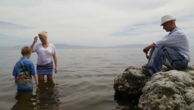 """A screen shot from """"Voices of the Salton Sea"""" video."""