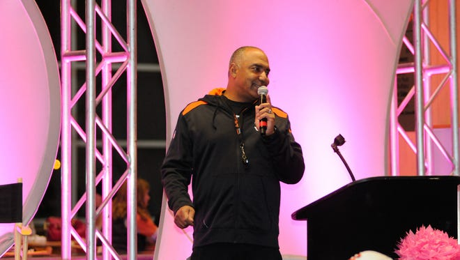 Marvin Lewis at a Marvin Lewis Community Fund event.