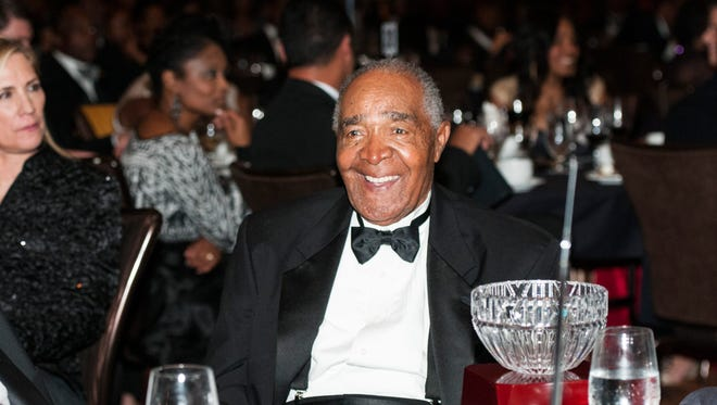 Chuck Harmon, the first African American Cincinnati Red, in October of 2013.