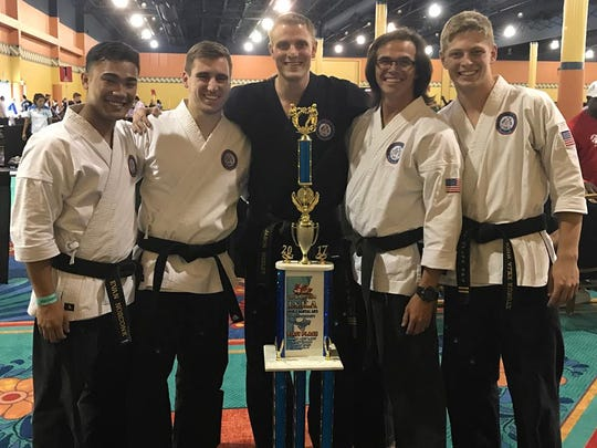 Jason Wesley, with partners Evan Norconk, Richard Brown, Attila Gabor, John Alex Kurutz, at the U.S. Open competition held in Orlando this past June.