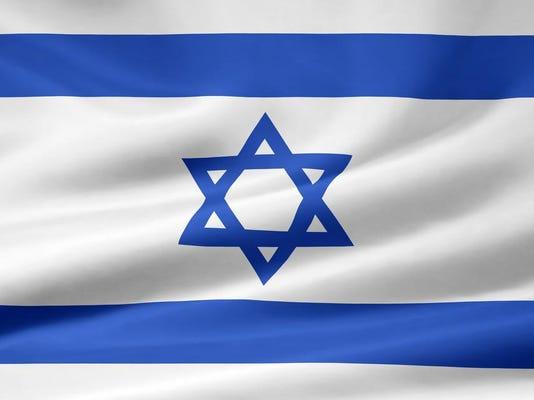 Israel flag stock