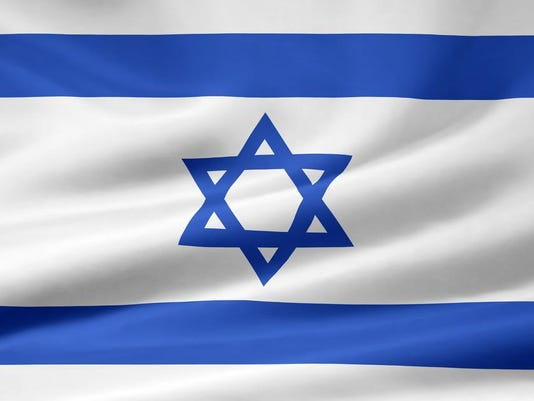 Israel flag stock