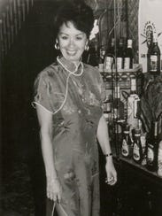 In this 1990 photo provided by Trader Vic's, Claudette