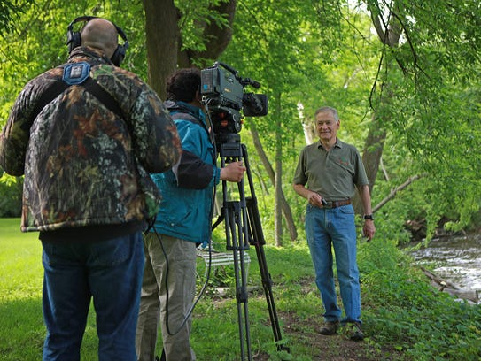 """Dan Small, right, has been host of the """"Outdoor Wisconsin"""""""