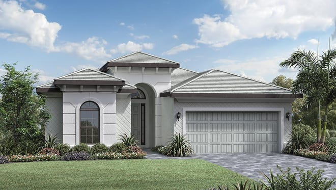 The Massiano Provincial Quick Delivery Home is available at Palazzo at Naples.