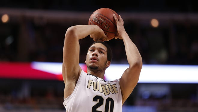 Purdue's A.J. Hammons will return for his senior season with the Boilermakers.