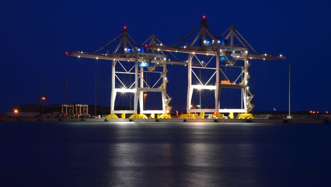 Port Canaveral has installed these two cargo container cranes as part of its strategy to boost its cargo business.