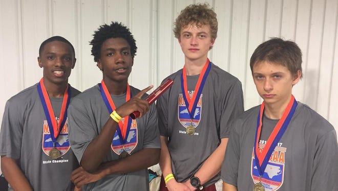 The Asheville High boys 3,200-meter relay team.